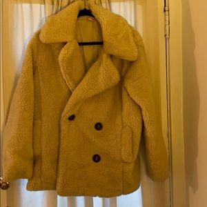 Free People Sherpa Pea Coat